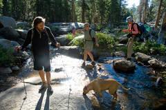 Hikers in Dinkey Lakes Wilderness