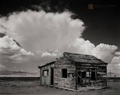 Mojave Desert, abandoned, historic, shack, cloud, cumulonimbus, thunderstorm