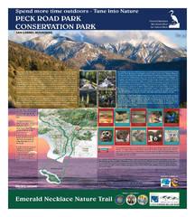 Peck Conservation Park Interpretive Sign