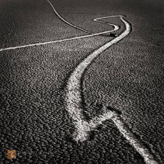 Racetrack, Death Valley, California, mysterious, unique, calligraphic, calligraphy, tracks, sliding, stones