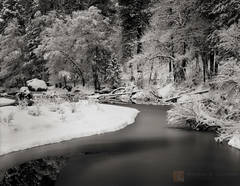 quiet, winter, Merced River, Yosemite Valley, California