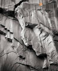 fractured, figured, Entrada, sandstone, wall, Glen Canyon NRA, Utah