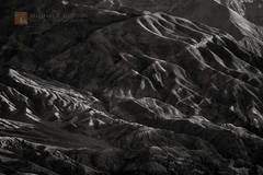light, long, shadows, creases, canyons, eroded, warp, Death Valley, Black Mountains