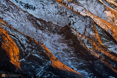 color,photo,picture,fresh,snow,winter,blue,orange,golden,warm,cool,brilliant,sunset,granite,slabs,exfoliation,geology,Clouds Rest,Yosemite