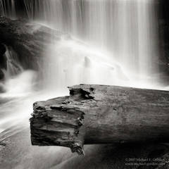 picture, photo, Bear Creek, waterfall, Sierra National Forest, black and white, landscape, fine art print