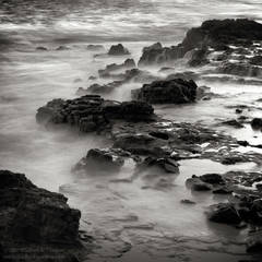 picture, photo, coast, rocky shore, 'Ele 'ele, Kaua'i, black and white, fine art print