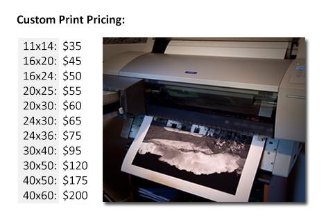 wide format fine art inkjet printing service