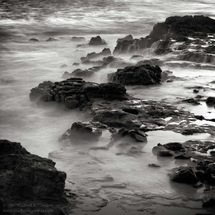 picture, photo, coast, rocky shore, 'Ele 'ele, Kaua'i, black and white, fine art print, photo