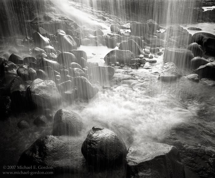 picture, photo, secret waterfall, Kaua'i, black and white, fine art print, photo