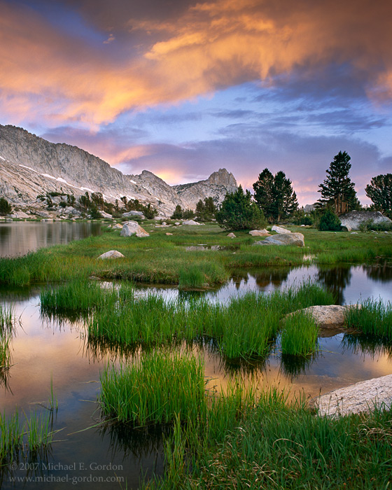 picture, photo, sunrise, clouds, Young Lakes, Ragged Peak, Yosemite National Park, landscape, fine art print, photo