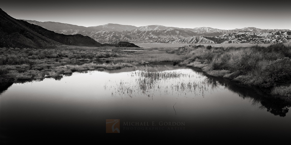 Death Valley, Mojave Desert, morning, badlands, oasis, photo