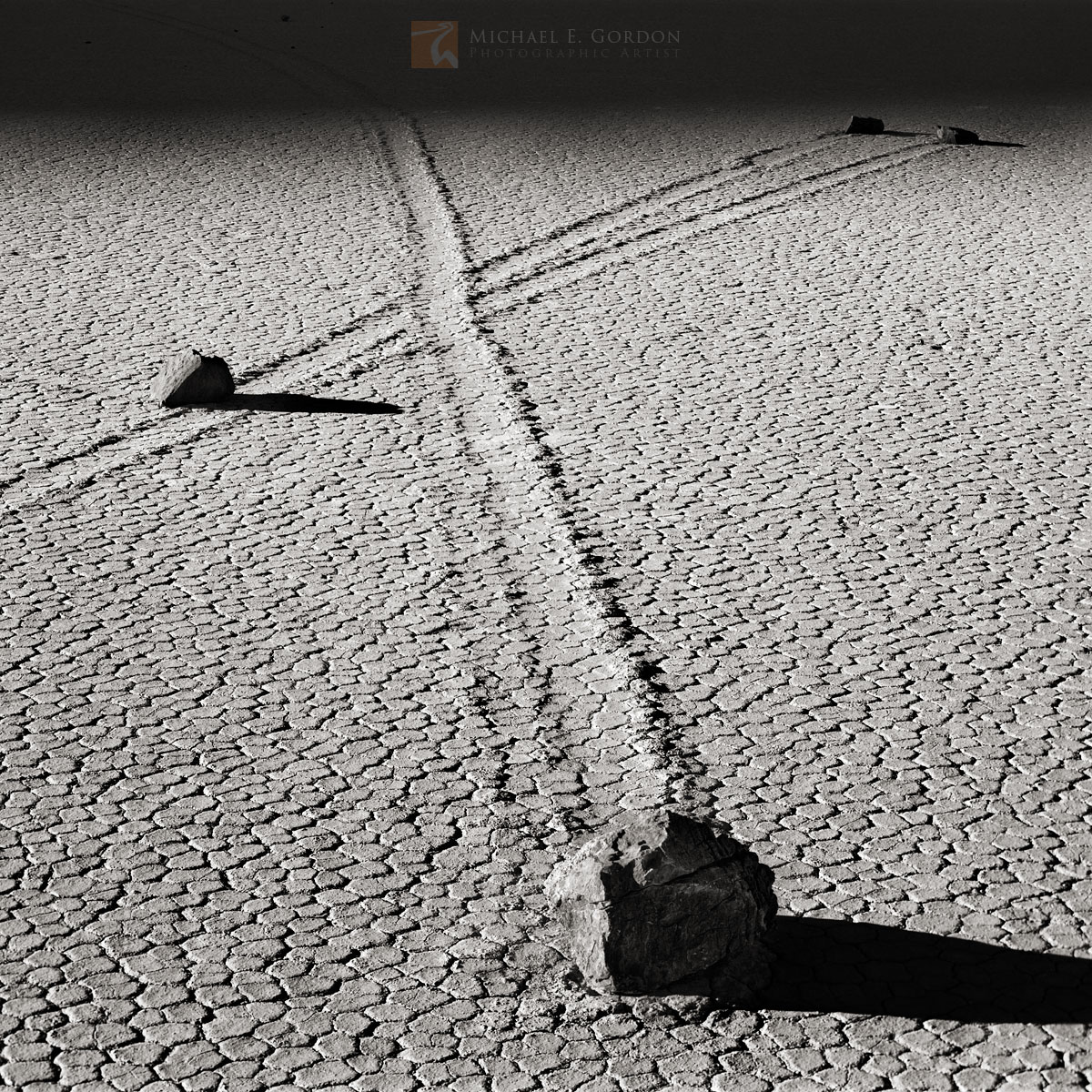 shadows, mysterious, unique, calligraphic, tracks, sliding, stones, The Racetrack, Death Valley, California, edge, darkness, , photo