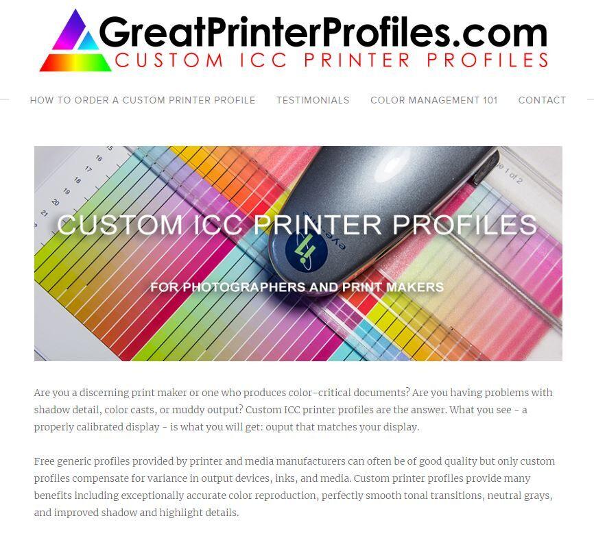 ICC/ICM Custom Printer Profiles For Sale | Michael E  Gordon