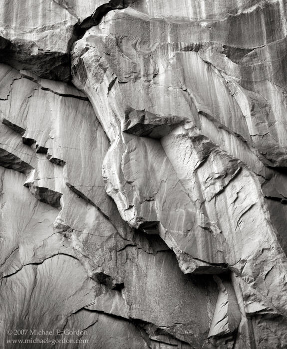 sandstone wall, exfoliation, cracks, geology, Hole in the Wall, Glen Canyon, Grand Staircase-Escalante, Mojave Desert, black and white, fine art photograph, fine art print, photo, picture, photo