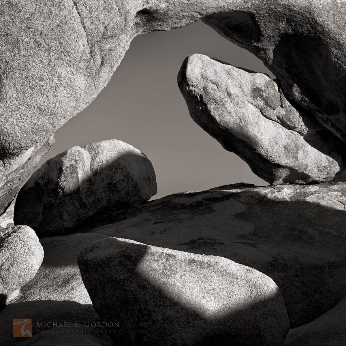 shapes, shadows, Joshua Tree, National Park, California, light, unique, geometry, natural, quartz monozonite, arch, boulders, photo
