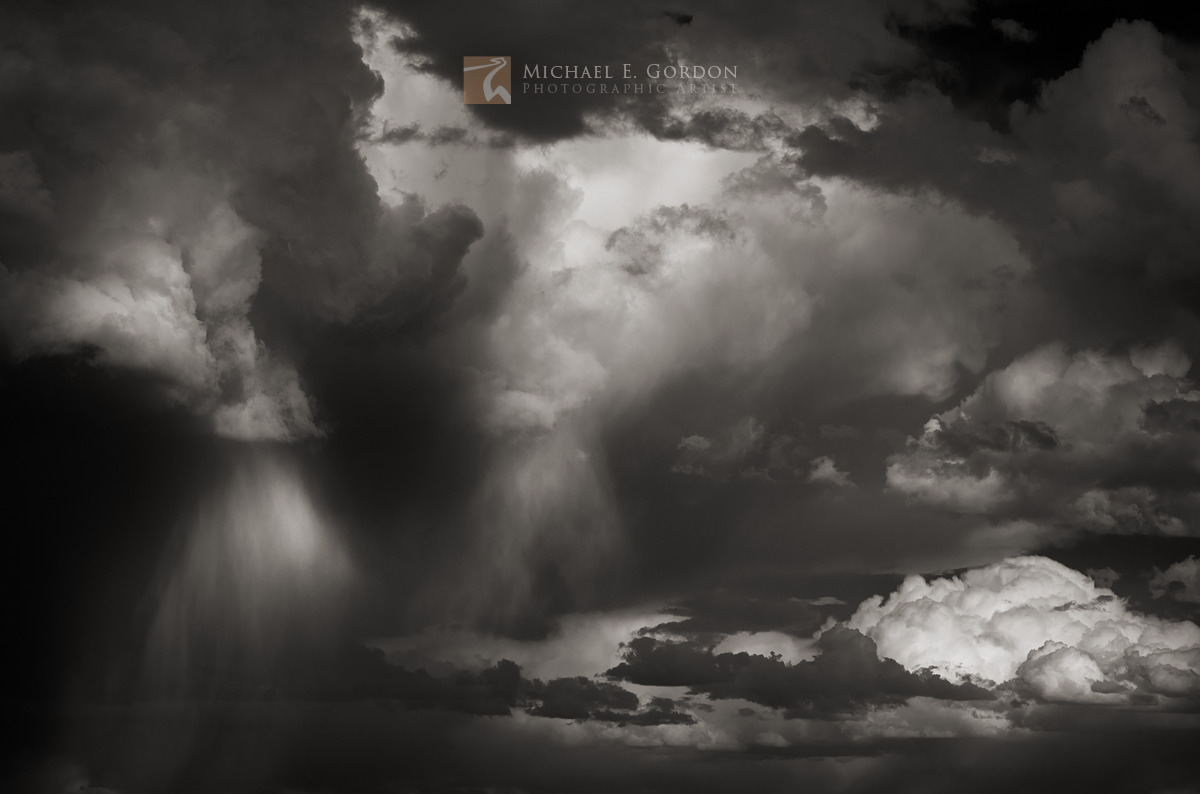 An ominous thunderstorm and rainfall over Southern Utah.