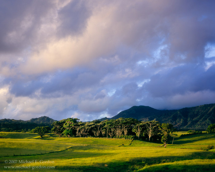 picture, photo, sunrise, clouds, Anahola, Kaua'i, landscape, fine art print, photo