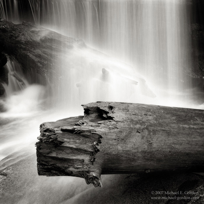 picture, photo, Bear Creek, waterfall, Sierra National Forest, black and white, landscape, fine art print, photo
