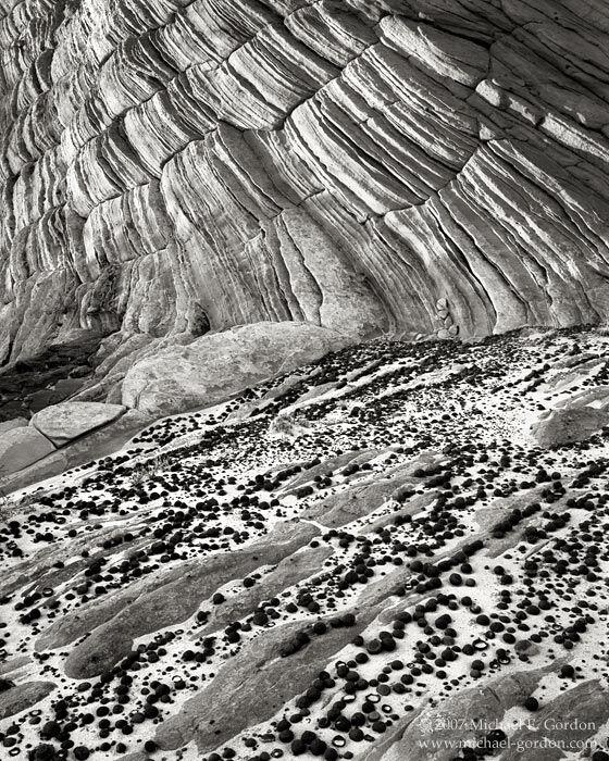 Grand Staircase-Escalante, Moqui, Moki, marble, stone, marbles, sandstone, geology, Great Basin, black and white, fine art photograph, fine art print, photo, picture, photo